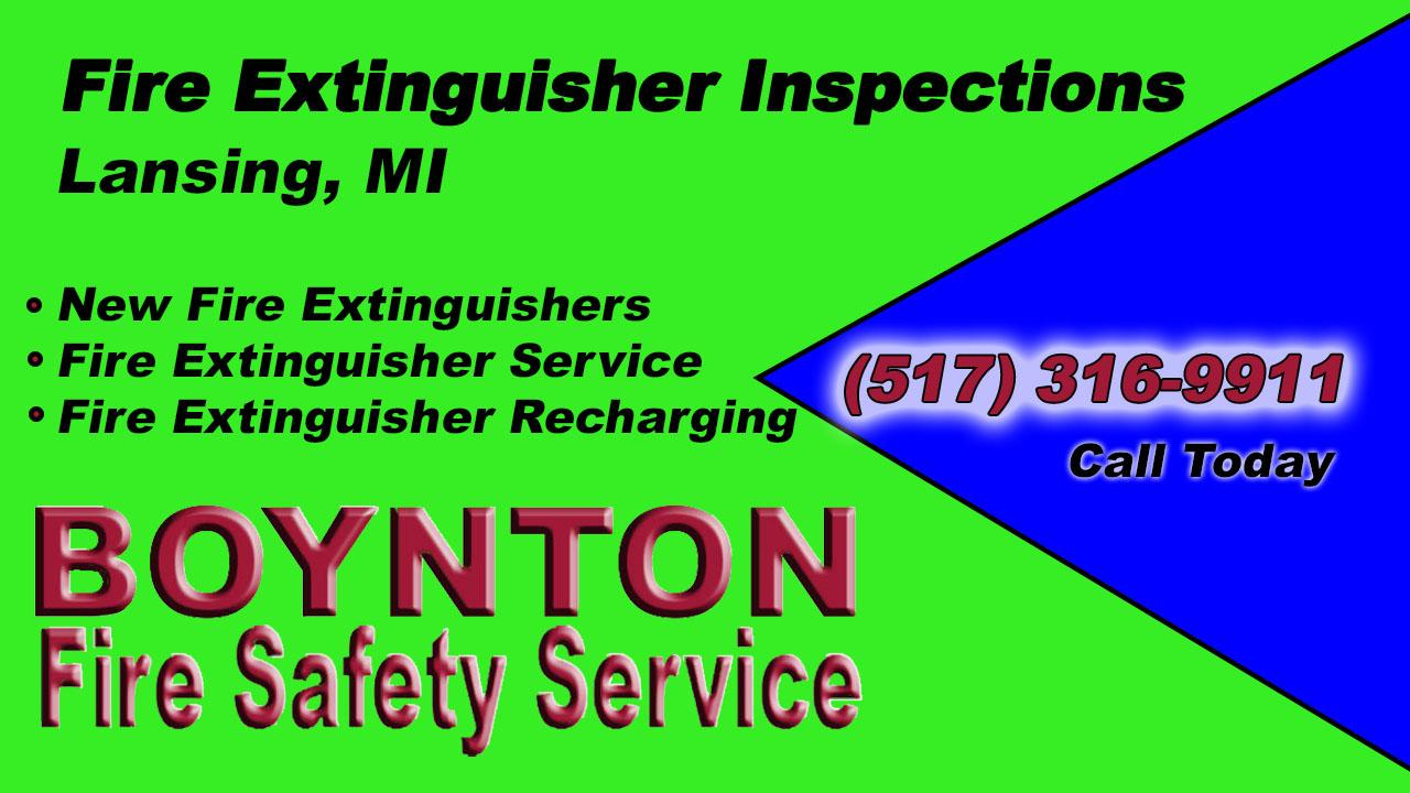 Fire Extinguisher Inspections Lansing MI