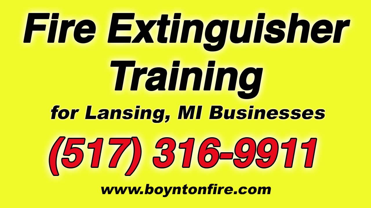 Fire Extinguisher Training Lansing MI